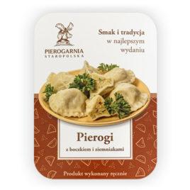 etykieta Pierogi z boczkiem i ziemniakami