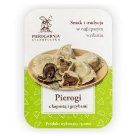 etykieta Pierogi z kapustą i grzybami