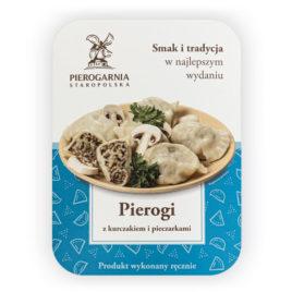 etykieta Pierogi z kurczakiem, pieczarkami i mozzarellą