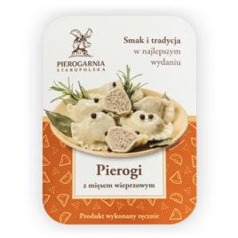 etykieta Pierogi z wieprzowiną